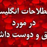اصطلاحات انگلیسی در مورد عشق و دوست داشتن با معنی فارسی و مثال