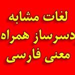 لغات مشابه گیج کننده انگلیسی همراه با معنی فارسی